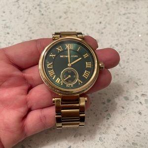 Michael Kors Skylar Emerald Green Gold-tone Watch